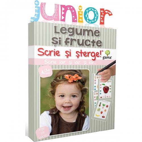 Editura Gama - Scrie si sterge Junior - Legume si fructe - Carti pentru copii -