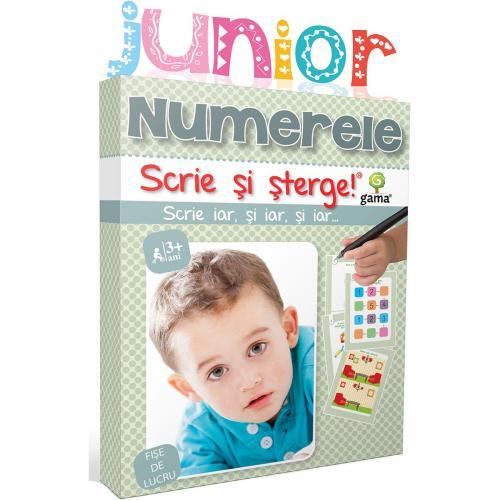 Editura Gama - Scrie si sterge Junior - Numerele - Carti pentru copii -