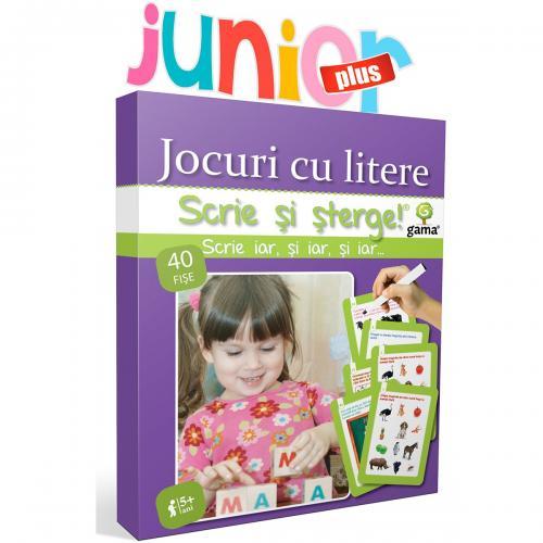 Editura Gama - Scrie si sterge Junior Plus - Jocuri cu litere - Carti pentru copii -