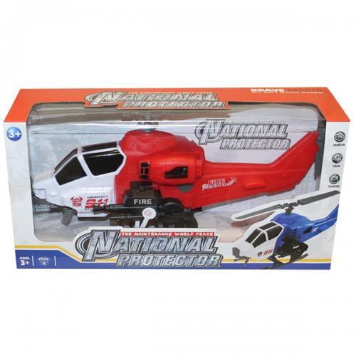Elicopter cu semnale luminoase Unika Toy - Rosu - 36 cm - Masinute electrice -