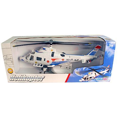Elicopter Unika Toy - Alb - 30 cm - Masinute copii -