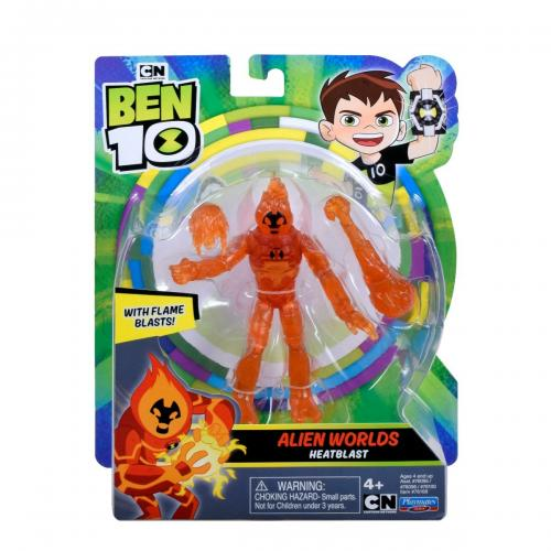 Figurina Ben 10 - Alien Worlds - Heatblast - 12 cm - 76168 - Figurine pentru copii -