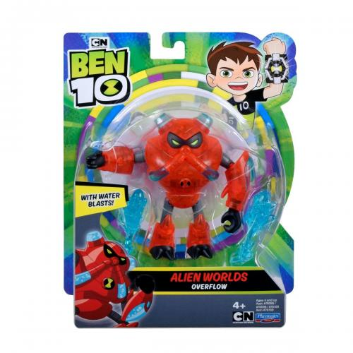 Figurina Ben 10 - Alien Worlds - Overflow - 12 cm - 76169 - Figurine pentru copii -