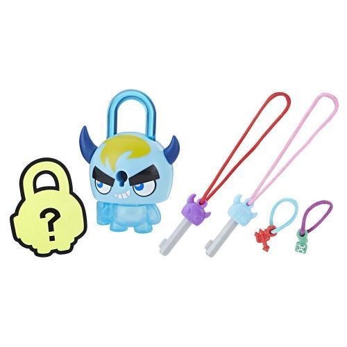 Figurina breloc Lock Stars - Monstru cu coarne albastru (E3172) - Figurine pentru copii -