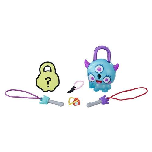 Figurina breloc Lock Stars - Monstru cu coarne (E3155) - Figurine pentru copii -