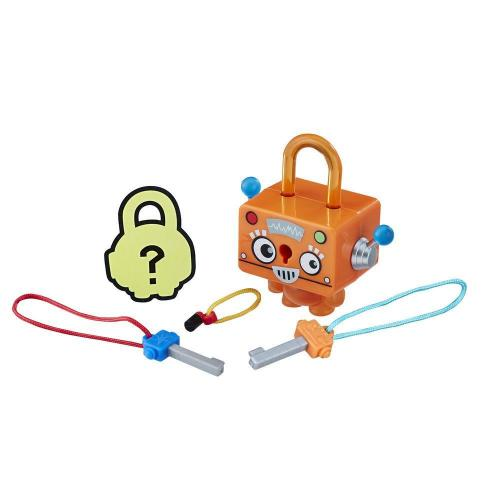 Figurina breloc Lock Stars - Robot portocaliu (E3207) - Figurine pentru copii -