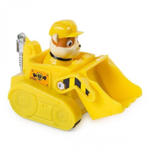 Figurina cu vehicul de interventie Paw Patrol - Rubble - Figurine pentru copii -