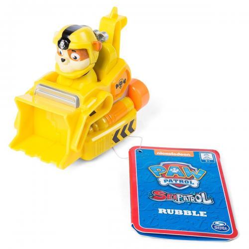 Figurina cu vehicul de salvare Paw Patrol - Rubble - Figurine pentru copii -