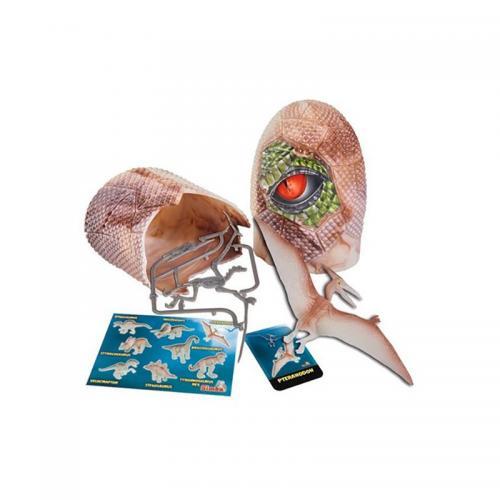Figurina dinozaur fluorescent in ou Simba - Pteranondon - 10 cm - Figurine pentru copii -