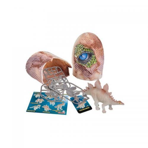 Figurina dinozaur fluorescent in ou Simba - Stegosaurus - 10 cm - Figurine pentru copii -