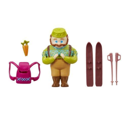 Figurina Disney Frozen Micul Regat - Oaken la ski - Figurine pentru copii -