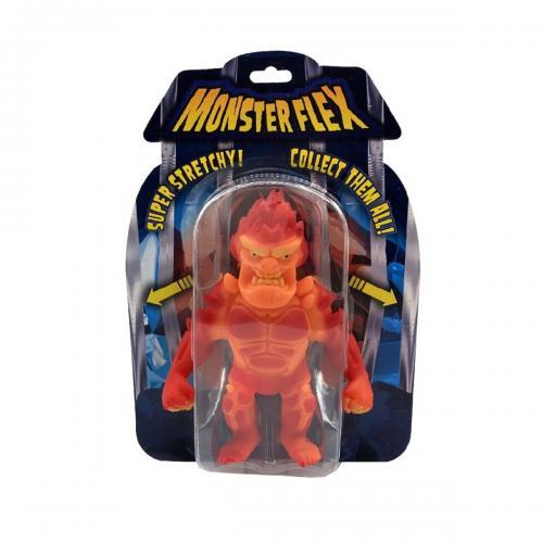 Figurina flexibila Monster Flex - Lava Man - Figurine pentru copii -