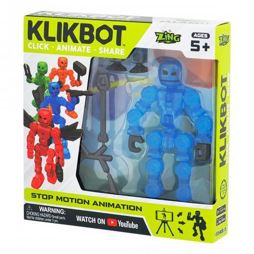 Figurina Robot articulat transformabil KlikBot - Blue - Figurine pentru copii -