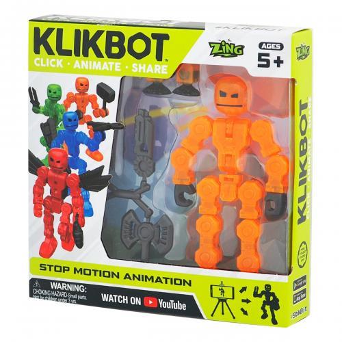 Figurina Robot articulat transformabil KlikBot - Orange - Figurine pentru copii -