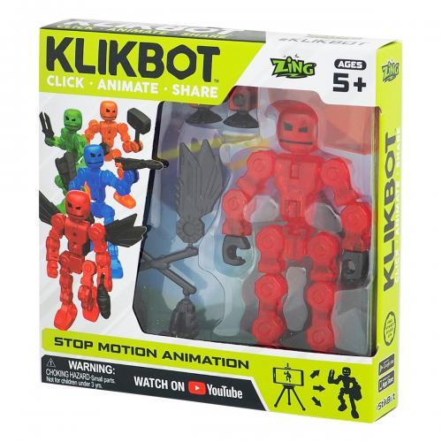 Figurina Robot articulat transformabil KlikBot - Red - Figurine pentru copii -
