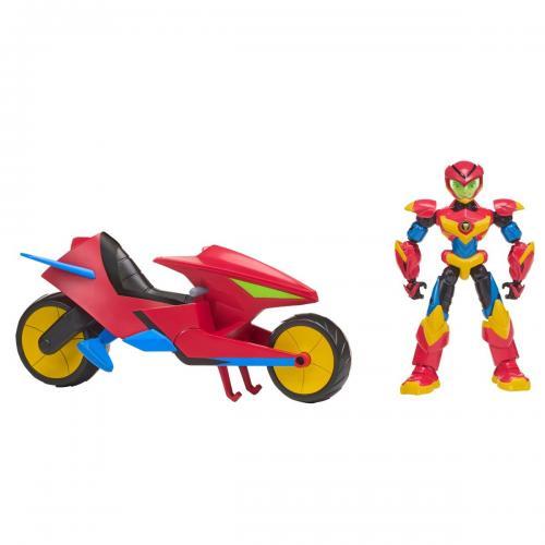 Figurina si autovehicul Power Players - Axels - Figurine pentru copii -