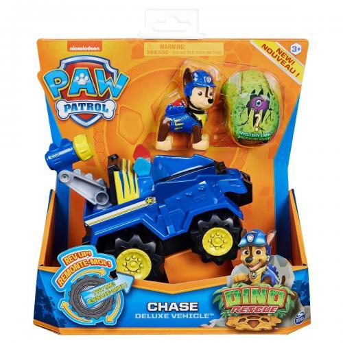 Figurina si vehicul Paw Patrol Dino Rescue - Chase 20124740 - Figurine pentru copii -