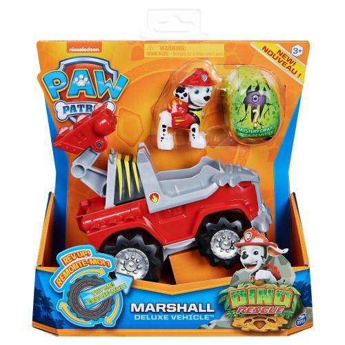 Figurina si vehicul Paw Patrol Dino Rescue - Marshall 20124741 - Figurine pentru copii -