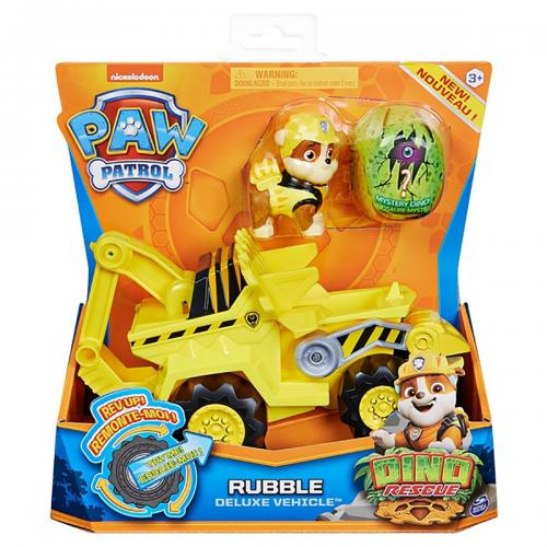 Figurina si vehicul Paw Patrol Dino Rescue - Rubble 20124742 - Figurine pentru copii -