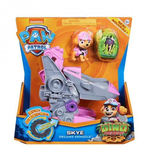 Figurina si vehicul Paw Patrol Dino Rescue - Skye 20124743 - Figurine pentru copii -