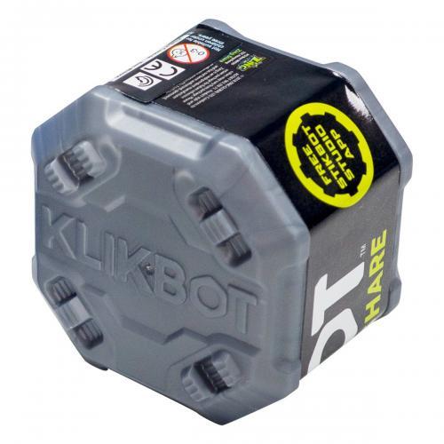 Figurina Surpriza robot articulat transformabil in capsula Klikbot - Grey - Figurine pentru copii -