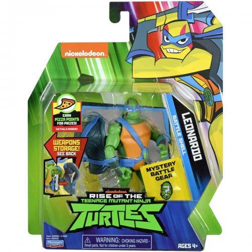 Figurina Testoasele Ninja - Leonardo Battle Shell - Figurine pentru copii -