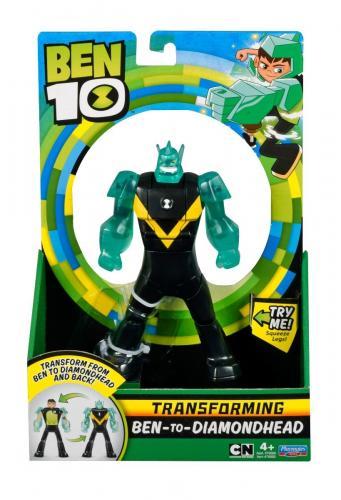 Figurina transformer Ben to Diamond Head Ben 10 - Figurine pentru copii -