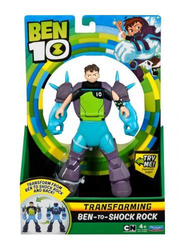 Figurina transformer Ben to Shock Rock Ben 10 - Figurine pentru copii -