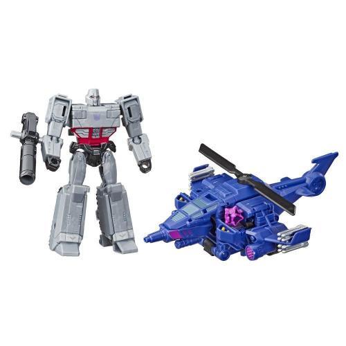 Figurina Transformers Cyberverse Spark Armor - Megatron - Chopper Cut - E4327 - Figurine pentru copii -