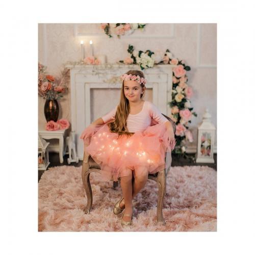 Fustita cu luminite Dulce - Roz - Imbracaminte copii - Fuste fetite