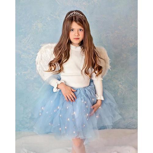 Fustita cu luminite Frozen - Albastru - Imbracaminte copii - Fuste fetite