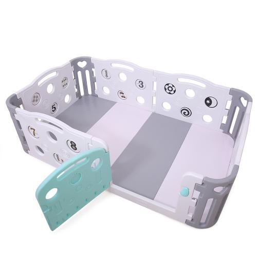 Gardulet loc de joaca cu salteluta inclusa Playgorund GreyBlue - Jucarii de exterior - Spatiu de joaca