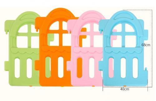 Gardulet loc de joaca dreptunghiular Nichiduta Forest Color - Jucarii de exterior - Spatiu de joaca