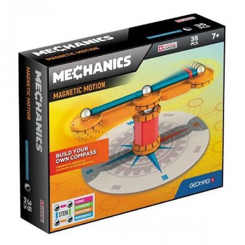 Joc de constructie magnetic Geomag Mechanics Motion - 35 piese - Jucarii de constructie -