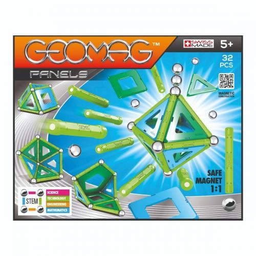 Joc de constructie magnetic Geomag Panels - 32 piese - Jucarii de constructie -