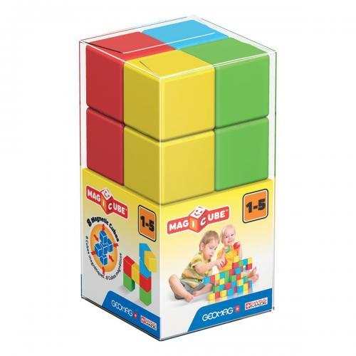 Joc de constructie magnetic Magic Cube - 8 piese - Jucarii de constructie -