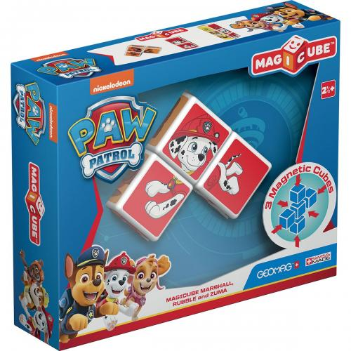 Joc de constructie magnetic Magic Cube - Paw Patrol - Marshall - Rubble si Zuma - Jucarii de constructie -