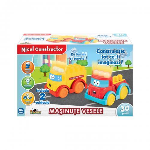Jucarie bebelusi Micul Constructor - Masinute vesele - Jucarii pentru bebelusi -