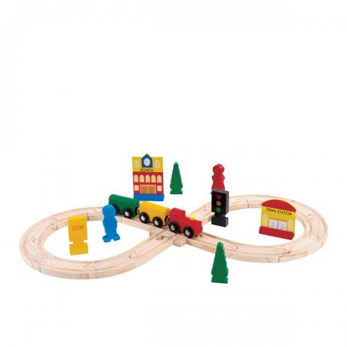 Jucarie bebelusi Noriel Bebe Wood - Trenuletul calator - Jucarii Montessori -