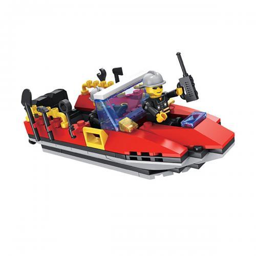 Jucarie de constructie Micul Constructor - Barca de pompieri - Jucarii de constructie -