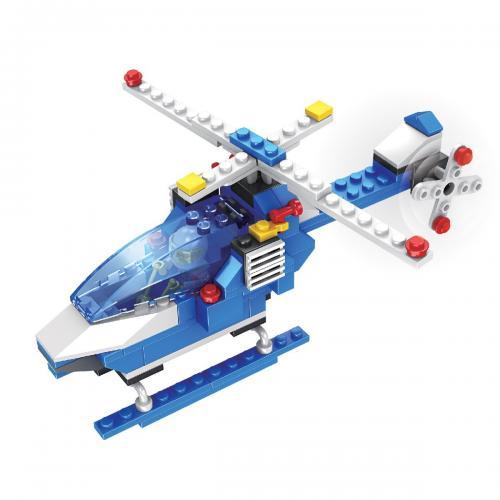 Jucarie de constructie Micul Constructor - Elicopter de politie - Jucarii de constructie -