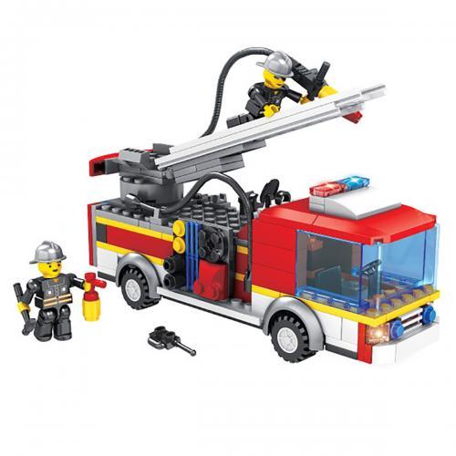 Jucarie de constructie Micul Constructor - Masina de pompieri - Jucarii de constructie -