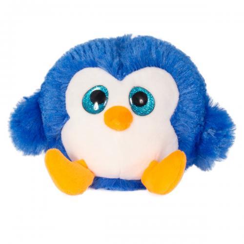 Jucarie de plus animalut cu ochi mari - Noriel - Albastru - 11 cm - Jucarii de plus -