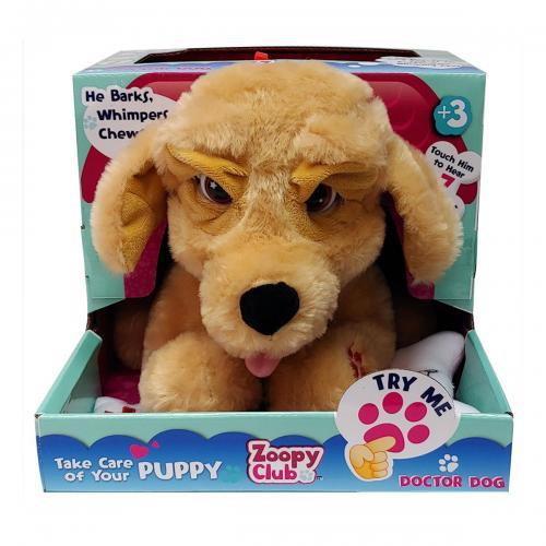 Jucarie de plus interactiva Zoopy Club Doctor Dog - Jucarii de plus -