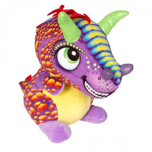 Jucarie de plus Noriel - Dragon cu creasta - Multicolor - 40 cm - Jucarii de plus -