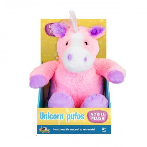 Jucarie de plus Noriel Plush - Unicorn pufos - roz - 25 cm - Jucarii de plus -