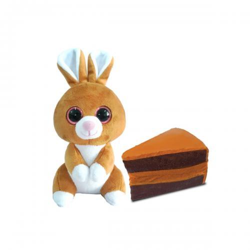 Jucarie de plus Wild Cakes - Bunny Choco Cake - S1 - Jucarii de plus -