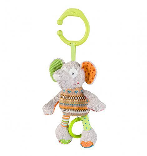 Jucarie muzicala Baby Ono din plus Elefant - La plimbare - Accesorii carucioare
