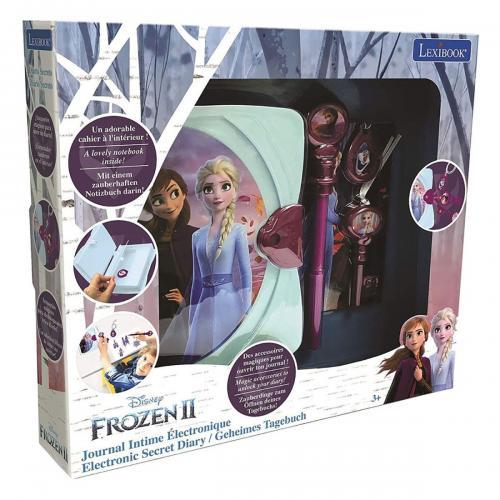 Jurnal electronic cu lumini si sunete Lexibook Disney Frozen 2 - Jucarii interactive -