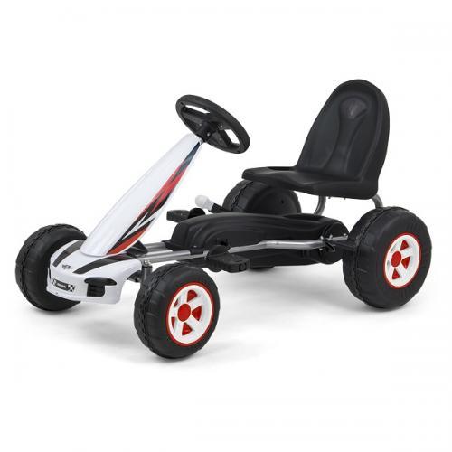 Kart cu pedale pentru copii Viper White - La plimbare - Karturi